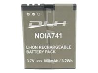 DLH Energy Batteries compatibles NOIA741