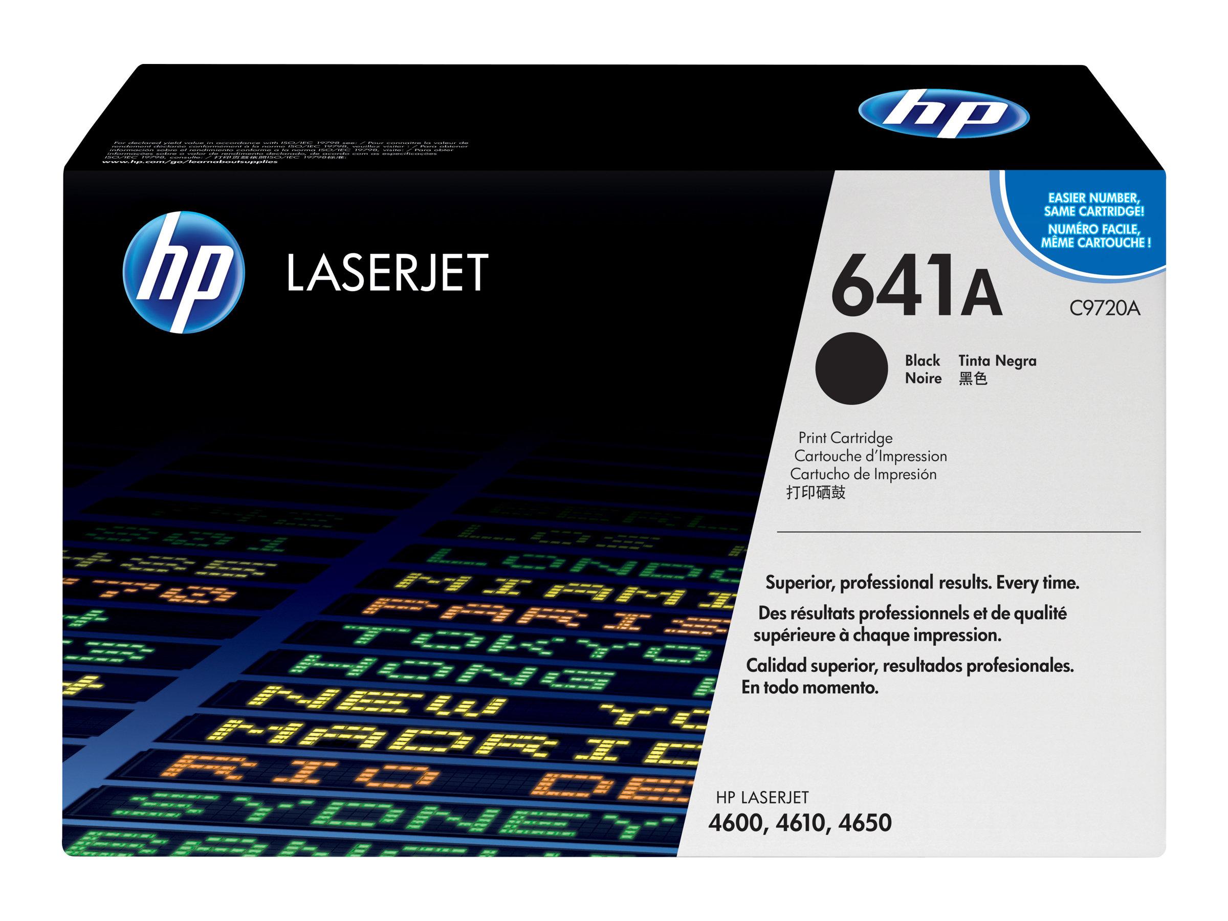HP 641A - noir - originale - LaserJet - cartouche de toner (C9720A)
