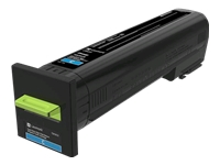 Lexmark - Extra High Yield - cyan - original - toner cartridge LCCP, LRP - for Lexmark CS820de, CS820dte, CS820dtfe