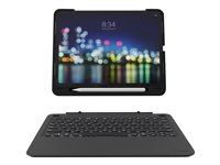 ZAGG Slim Book go - Keyboard and folio case - backlit