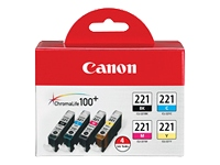Canon CLI-221 Four Color Pack