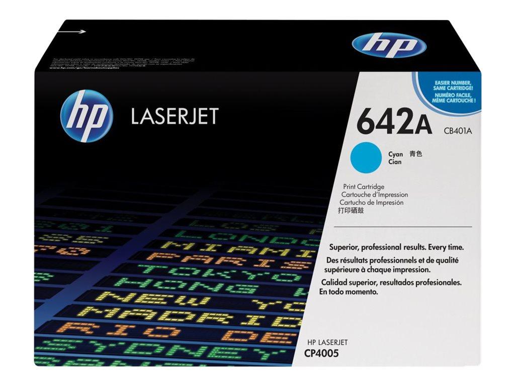HP 642A - cyan - original - LaserJet - cartouche de toner ( CB401A )