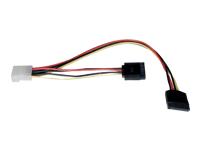 Tripp Lite Serial ATA (SATA) Dual Power Adapter Y Cable (LP4 4pin to 2x 15pin SATA)