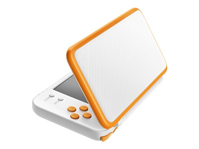 New Nintendo 2DS XL - Handheld game console - white, orange