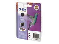 Epson T0801 7.4 ml sort original blister blækpatron