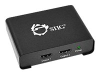 SIIG 1x2 HDMI Splitter with 3D and 4Kx2K - Video/audio splitter - 3 x HDMI - desktop