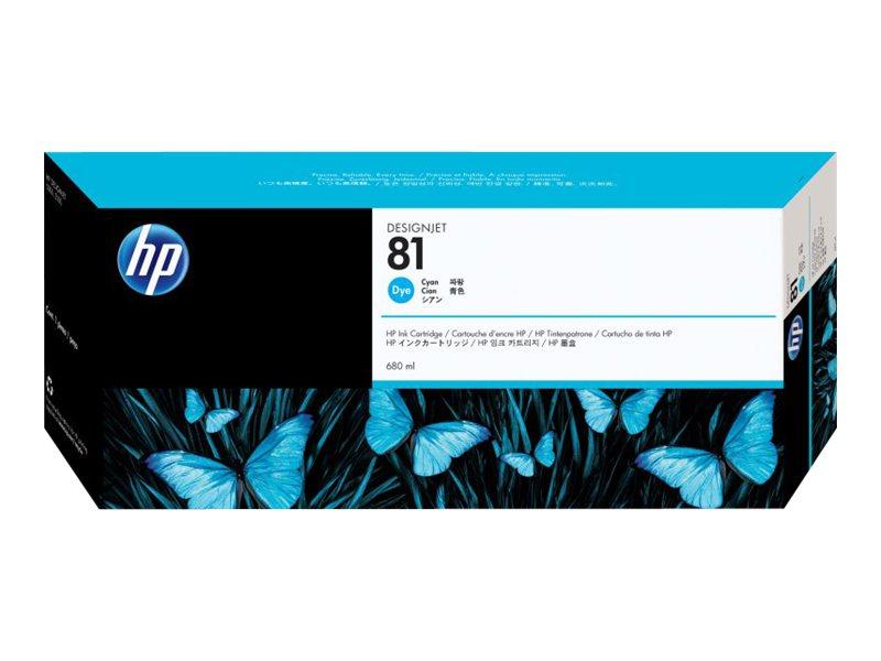 HP 81 - cyan - originale - cartouche d'encre