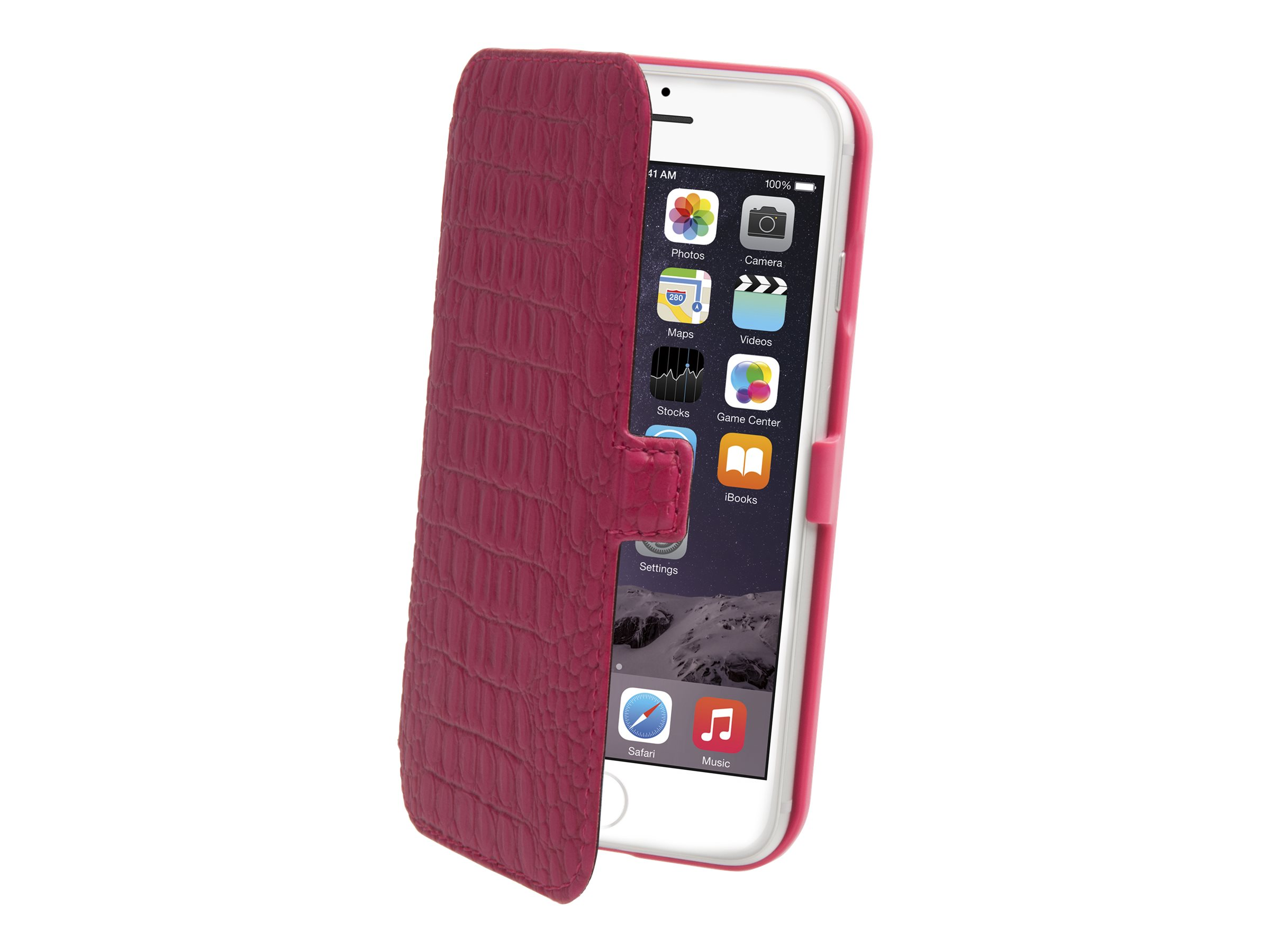 Muvit Slim Folio - Protection à rabat pour iPhone 6 - Fuchsia