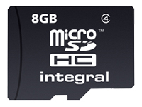 Integral - carte mémoire flash - 8 Go - microSDHC