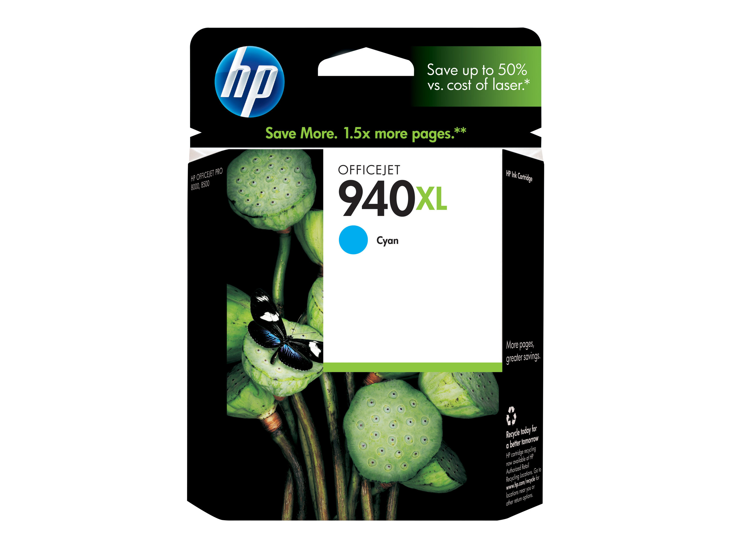 HP 940XL - à rendement élevé - cyan - originale - cartouche d'encre