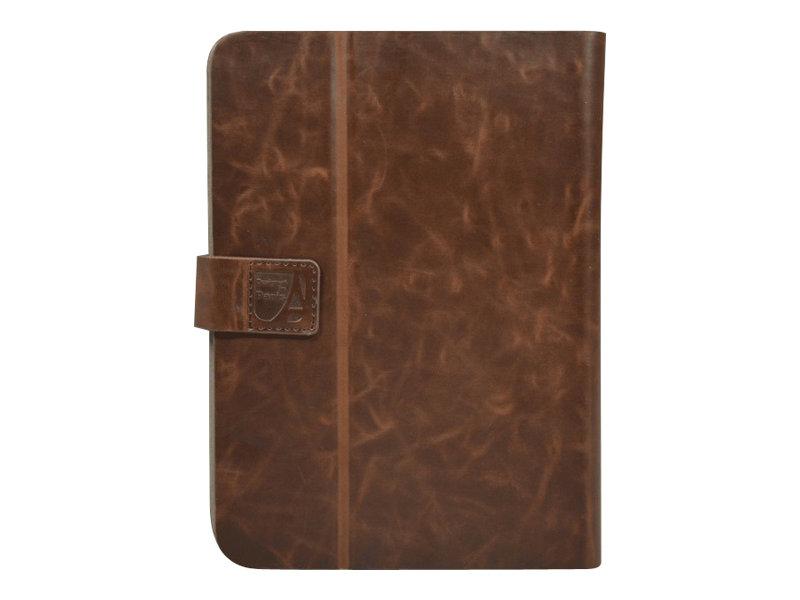 port manille coque de protection pour tablette universel 10 pouces cuir brun etuis. Black Bedroom Furniture Sets. Home Design Ideas