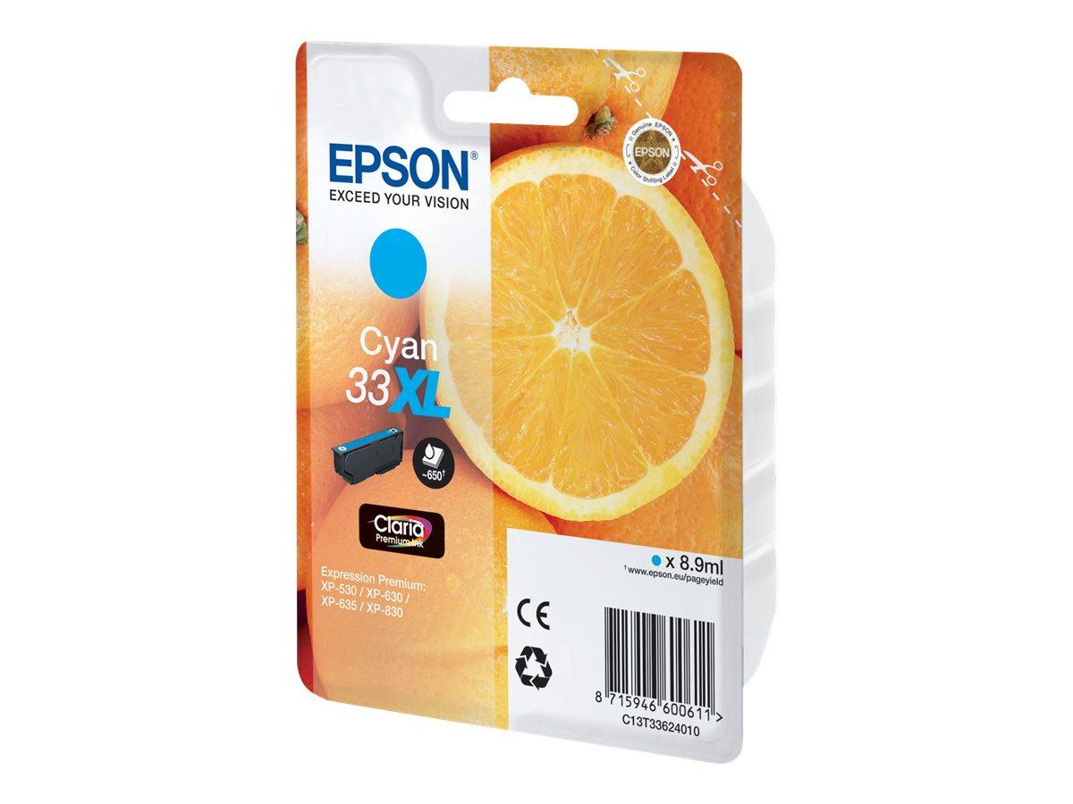 Epson 33XL - haute capacité - cyan - originale - cartouche d'encre