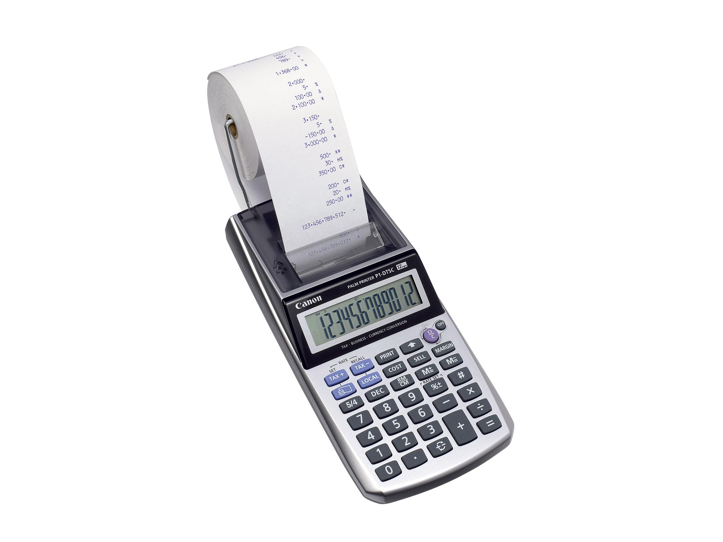 Canon P1- DTSC - Calculatrice avec imprimante - LCD - 12 chiffres - avec ou sans adatapteur
