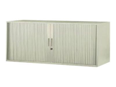 MT - Armoire - basse - 2 portes - argenté(e), chêne clair