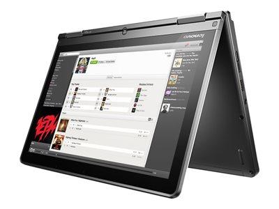 "Lenovo ThinkPad Yoga 11e 20GA - Flip design - Celeron N3160 / 1.6 GHz - Win 10 Pro 64-bit - 4 GB RAM - 128 GB SSD - 11.6"" IPS touchscreen 1366 x 768 (HD) - HD Graphics 400 - Wi-Fi - graphite black"