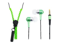 """LogiLink """"Zipper"""" Stereo In-Ear Headset Headset i øret neongrøn"""