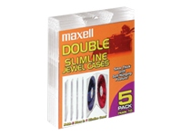 Maxell Double Slimline Jewel Cases CD-391