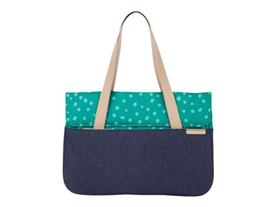 "STM Grace Deluxe - Notebook carrying case - 13"" - teal dot/night sky"