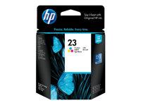 HP Cartucho de tinta amarillo, ci�n , magentaC1823D