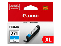 Canon CLI-271XL C - Cyan - original - ink tank - for PIXMA MG5720, MG5721, MG5722, MG6821, MG6822, MG7720, TS5020, TS6020, TS8020, TS9020