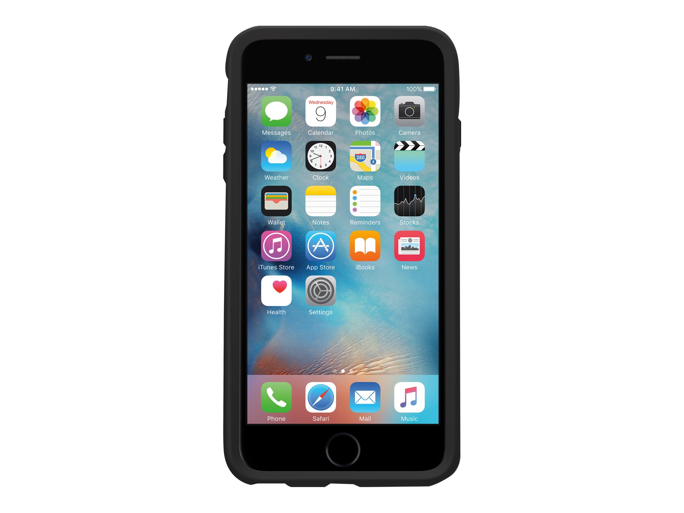 OtterBox Symmetry Series - Coque de protection- pour iPhone 6 Plus, 6s Plus - cristal noir
