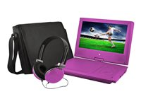 "Ematic EPD909 - DVD player - portable - display: 9"" - purple"