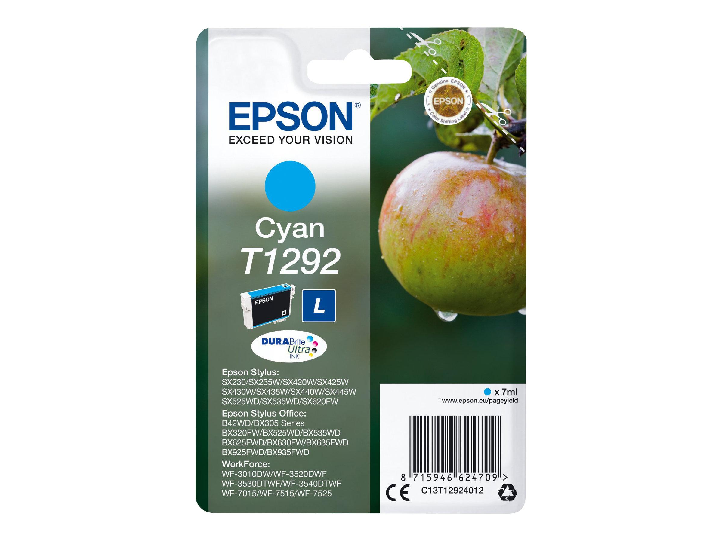 Epson T1292 - pomme - taille L - cyan - originale - cartouche d'encre