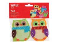 APLI kids - Forme à décorer - 2 feutrines - hiboux