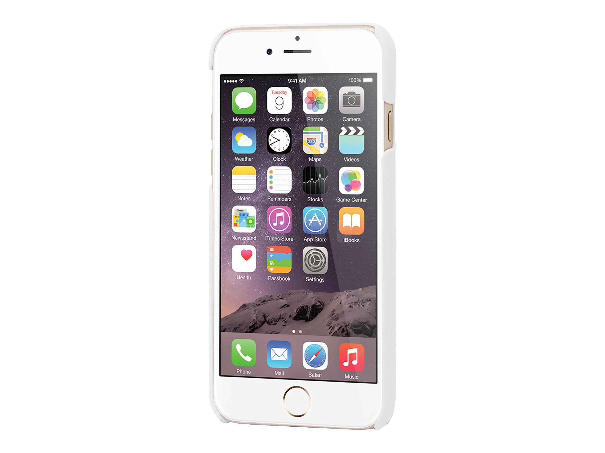 Muvit finition rubber - Coque de protection pour iPhone 6, 6s - blanc
