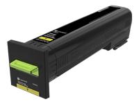 Lexmark - High Yield - yellow - original - toner cartridge LCCP - for Lexmark CS820de, CS820dte, CS820dtfe