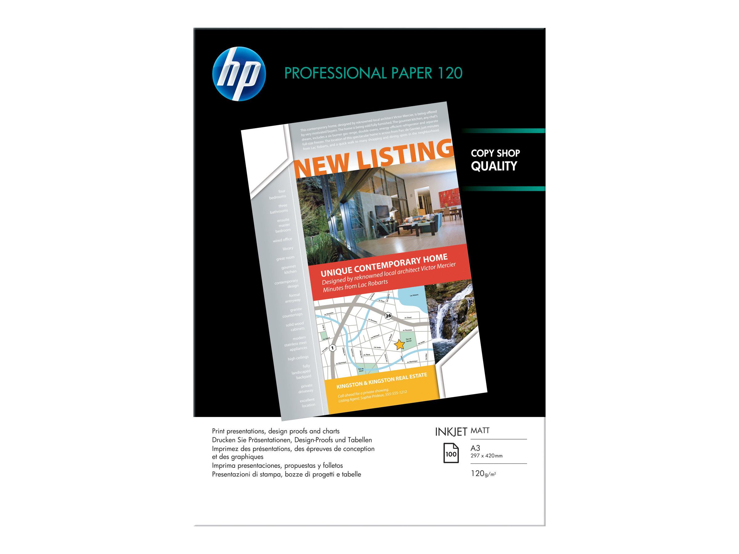 HP PROFESSIONAL 120 MATTMATE BLANCO BRILLANTE A4