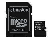 Kingston Canvas Select - Tarjeta de memoria flash (adaptador microSDXC a SD Incluido) - 16 GB