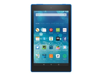 """Amazon Kindle Fire HD 8 - Tablet - 32 GB - 8"""" IPS (1280 x 800) - microSD slot - marine blue - with Special Offers"""