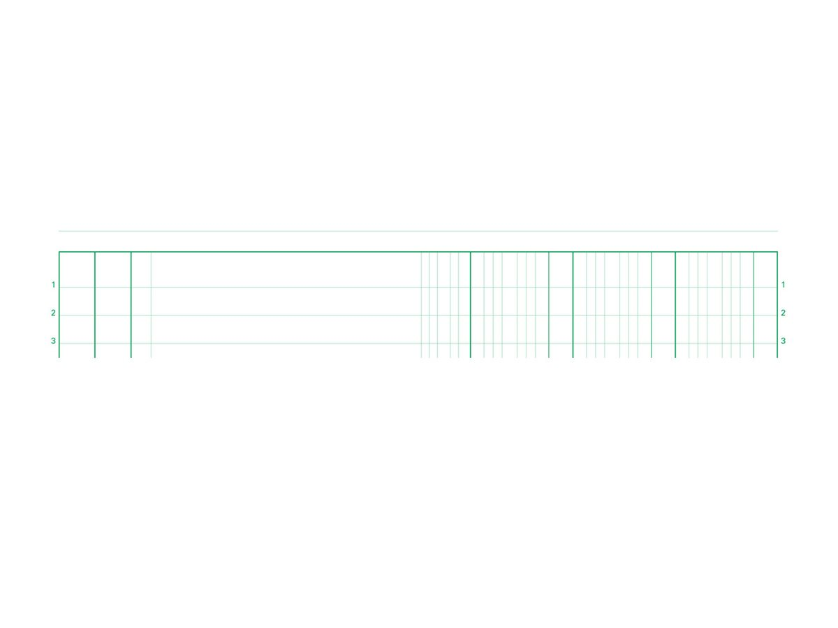 Exacompta - Manifold de duplicata - 50 pages - 3 colonnes - A4 - en double