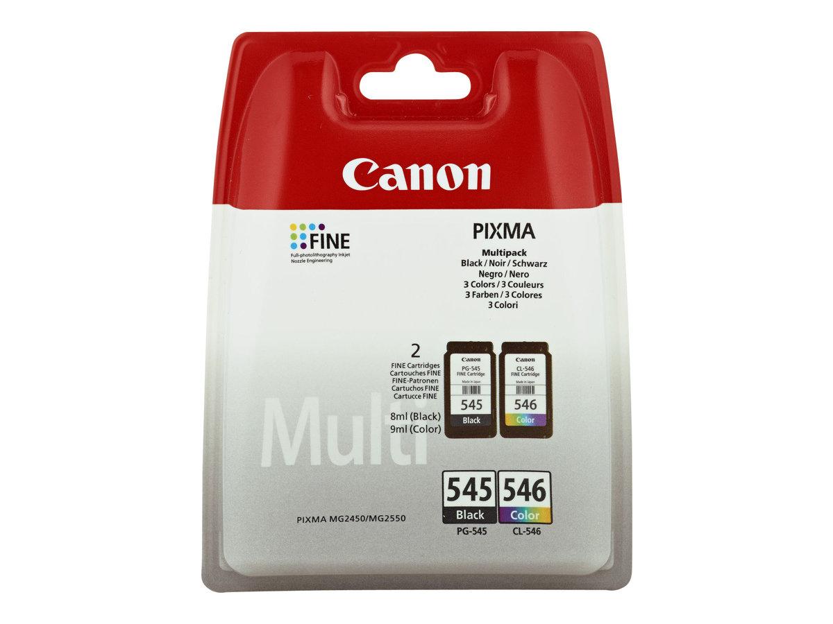 Canon PG-545 / CL-546 Multipack - pack de 2 - noir, couleur (cyan, magenta, jaune) - originale - cartouche d'encre