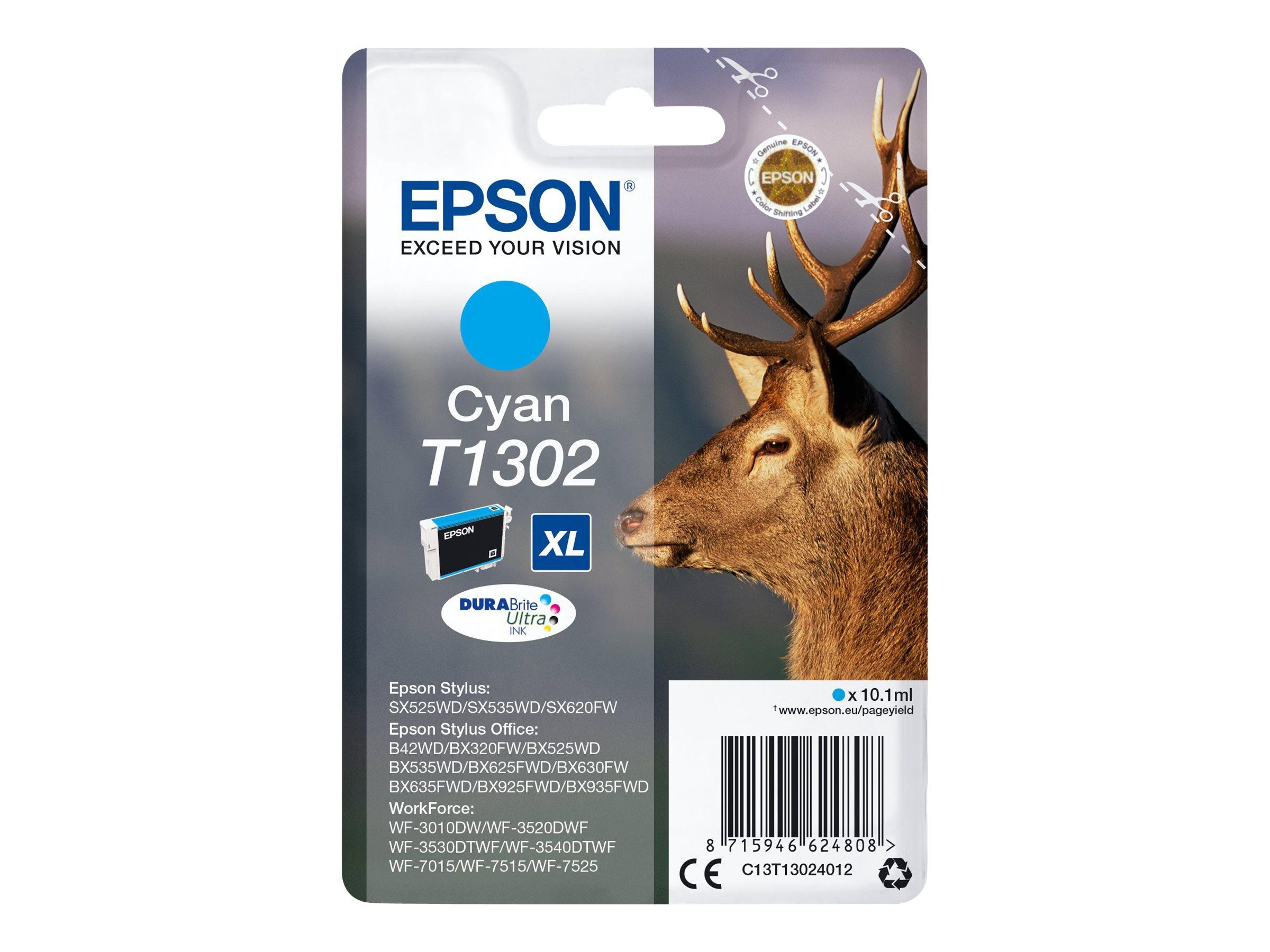 Epson T1302 - cerf - cyan - originale - cartouche d'encre (équivalent à : Epson T1302)
