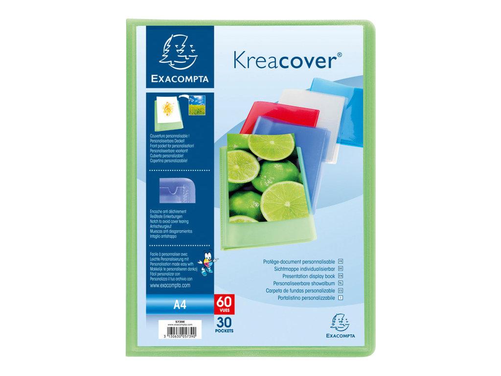 exacompta kreacover chromaline porte vues personnalisable 50 pochettes 100 vues a4. Black Bedroom Furniture Sets. Home Design Ideas