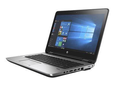 """HP ProBook 640 G3 - Core i5 7300U / 2.6 GHz - Win 10 Pro 64-bit - 8 GB RAM - 128 GB SSD HP Value - DVD - 14"""" 1920 x 1080 (Full HD) - HD Graphics 620 - Wi-Fi, Bluetooth - kbd: US"""