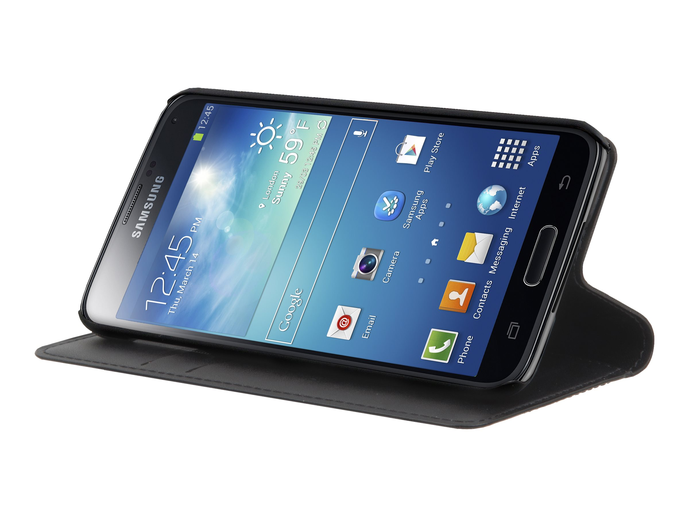 Muvit Wallet Folio - Protection à rabat pour Samsung Galaxy Note 4 -noir