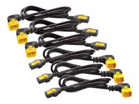APC Power Cord Kit (6 ea) Locking C13 to C14 (90 Degree) 1.8m