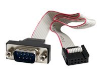 STARTECH - CABLE StarTech.com 9 Pin Serial Male to 10 Pin Motherboard Header Panel Mount CablePNL9M16