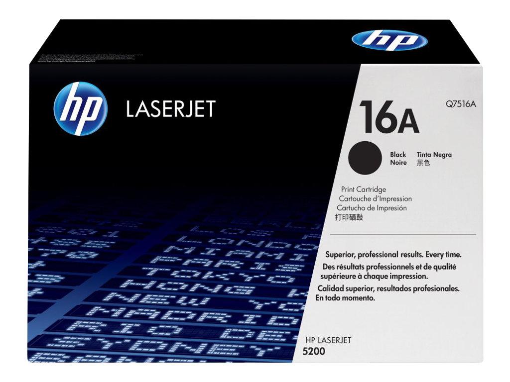 HP 16A - noir - originale - LaserJet - cartouche de toner (Q7516A)