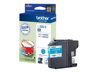 Brother LCLC22UC - XL - cyan - originale - cartouche d'encre