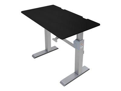 Ergotron WorkFit-DL - Stůl k sezení/stání - mobilní - kancelář - hranatý - černá