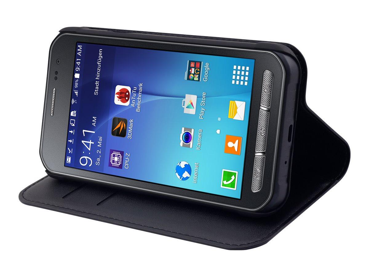 Muvit Wallet - Protection à rabat pour Samsung Galaxy Xcover 3 - noir