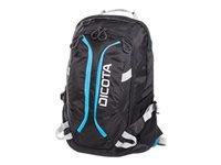 """Dicota Active Laptop Bag 15.6"""" Rygsæk til notebook 15.6"""" sort, blå"""