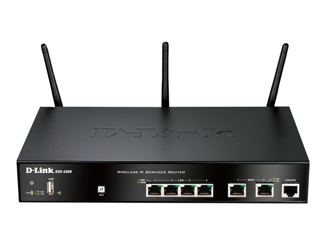 Image of D-Link Wireless Services Router DSR-500N - wireless router - 802.11b/g/n - desktop