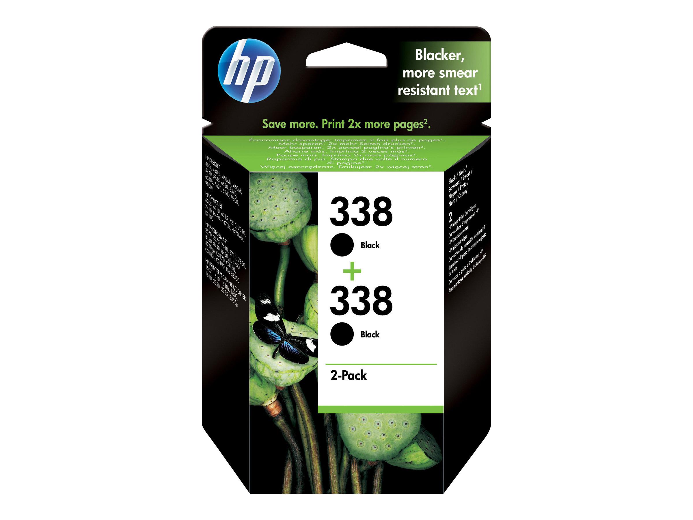 HP 338 - pack de 2 - noir - originale - cartouche d'encre