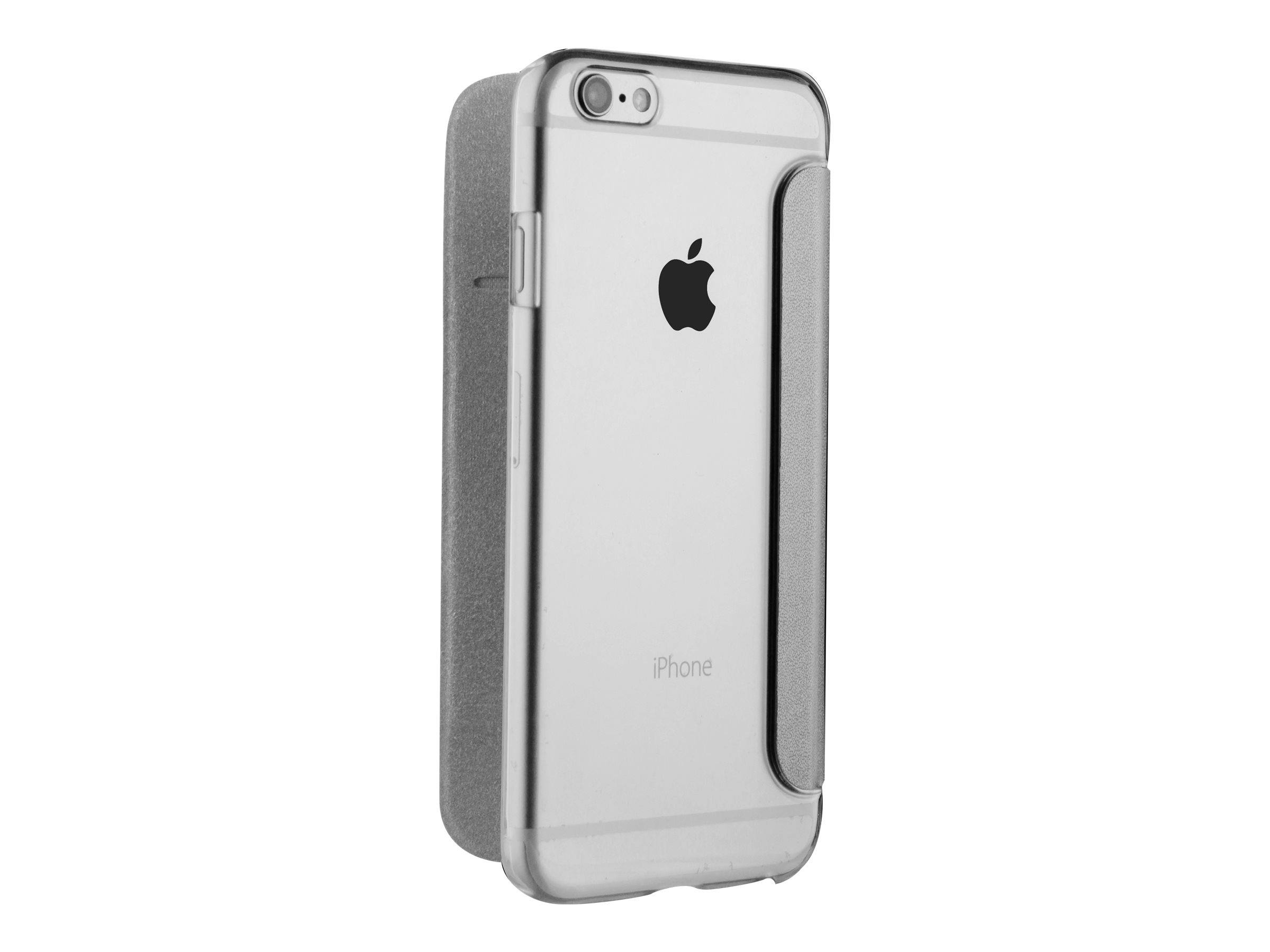 Muvit Folio - Protection à rabat pour iPhone 7 Plus - argenté, transparent