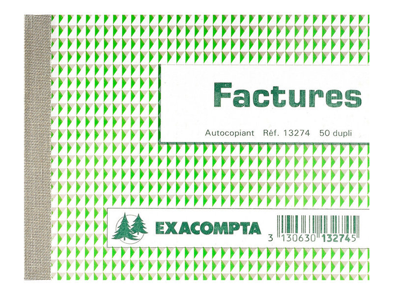 Exacompta - Manifold de factures - 105 x 135 mm - en double - à l'unité ou en lot